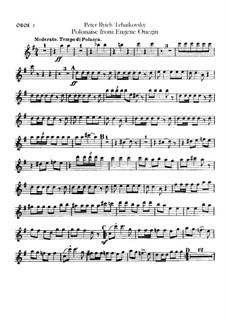 Акт III, No.19 Полонез: Партии гобоев by Петр Чайковский