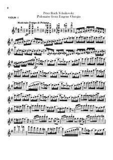 Акт III, No.19 Полонез: Партии скрипок by Петр Чайковский
