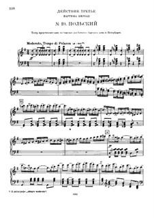 Вся опера: Действие III – клавир с вокальной партией by Петр Чайковский