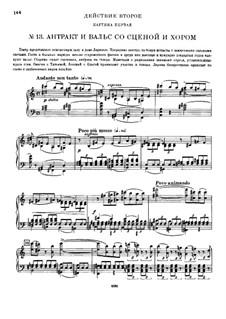 Вся опера: Действие II – клавир с вокальной партией by Петр Чайковский