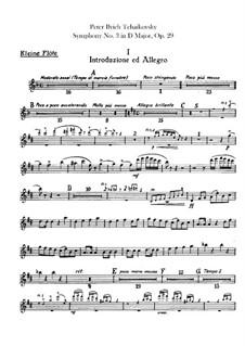 Симфония No.3 ре мажор 'Польская', TH 26 Op.29: Партии флейт by Петр Чайковский
