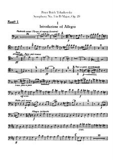 Симфония No.3 ре мажор 'Польская', TH 26 Op.29: Партии фаготов by Петр Чайковский