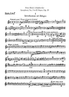 Симфония No.3 ре мажор 'Польская', TH 26 Op.29: Партии валторн by Петр Чайковский