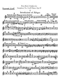 Симфония No.3 ре мажор 'Польская', TH 26 Op.29: Партии труб by Петр Чайковский