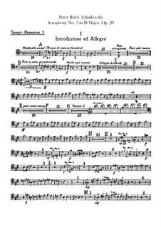 Симфония No.3 ре мажор 'Польская', TH 26 Op.29: Партии тромбонов и тубы by Петр Чайковский