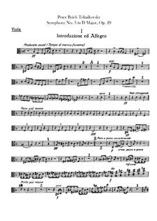 Симфония No.3 ре мажор 'Польская', TH 26 Op.29: Партия альтов by Петр Чайковский