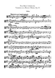 Вариации на тему рококо, TH 57 Op.33: Партия альтов by Петр Чайковский