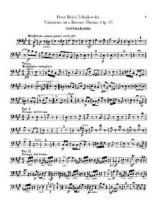 Вариации на тему рококо, TH 57 Op.33: Партия контрабаса by Петр Чайковский