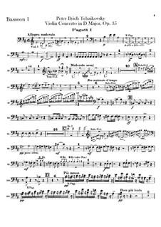 Концерт для скрипки с оркестром ре мажор, TH 59 Op.35: Партии фаготов by Петр Чайковский