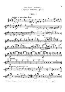 Итальянское каприччио, TH 47 Op.45: Партии флейт by Петр Чайковский