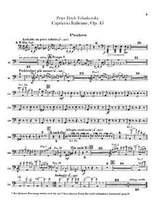 Итальянское каприччио, TH 47 Op.45: Партии ударных by Петр Чайковский