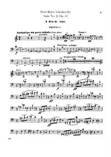 Сюита No.2 до мажор, TH 32 Op.53: Партии фаготов by Петр Чайковский