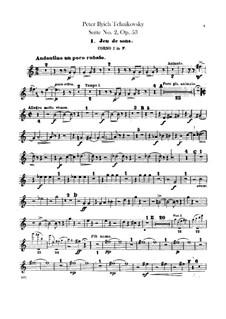 Сюита No.2 до мажор, TH 32 Op.53: Партии первой и второй валторн by Петр Чайковский