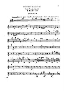 Сюита No.2 до мажор, TH 32 Op.53: Партии третьей и четвертой валторн by Петр Чайковский