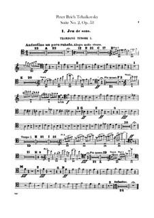 Сюита No.2 до мажор, TH 32 Op.53: Партии тромбонов и тубы by Петр Чайковский