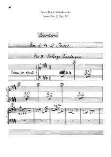Сюита No.2 до мажор, TH 32 Op.53: Партия аккордеона (ad libitum) by Петр Чайковский
