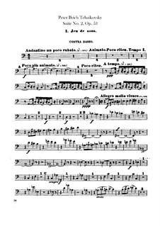 Сюита No.2 до мажор, TH 32 Op.53: Партия контрабасов by Петр Чайковский
