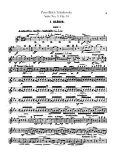 Сюита No.3 соль мажор, TH 33 Op.55: Партии гобоев и английского рожка by Петр Чайковский
