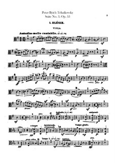 Сюита No.3 соль мажор, TH 33 Op.55: Партия альтов by Петр Чайковский