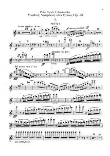 Симфония 'Манфред', TH 28 Op.58: Партии флейт by Петр Чайковский