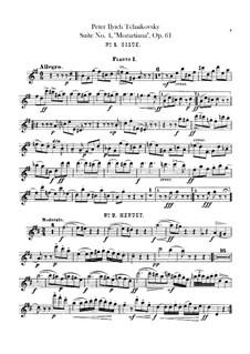 Сюита No.4 соль мажор 'Моцартиана', TH 34 Op.61: Партии флейт by Петр Чайковский
