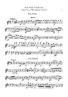 Сюита No.4 соль мажор 'Моцартиана', TH 34 Op.61: Партии гобоев by Петр Чайковский