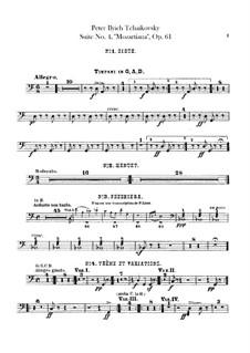 Сюита No.4 соль мажор 'Моцартиана', TH 34 Op.61: Партии ударных by Петр Чайковский