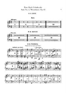 Сюита No.4 соль мажор 'Моцартиана', TH 34 Op.61: Партия арфы by Петр Чайковский