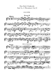 Сюита No.4 соль мажор 'Моцартиана', TH 34 Op.61: Партия II скрипок by Петр Чайковский