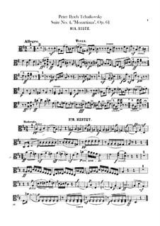 Сюита No.4 соль мажор 'Моцартиана', TH 34 Op.61: Партия альтов by Петр Чайковский