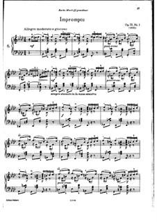 Восемнадцать пьес для фортепиано, TH 151 Op.72: No.1 Экспромт by Петр Чайковский