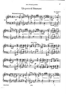 Восемнадцать пьес для фортепиано, TH 151 Op.72: No.9 В манере Шумана by Петр Чайковский