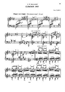 Восемнадцать пьес для фортепиано, TH 151 Op.72: No.13 Сельское эхо by Петр Чайковский