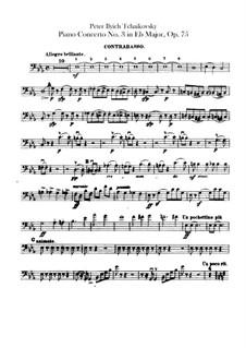 Концерт для фортепиано с оркестром No.3 ми-бемоль мажжор, TH 65 Op.75: Партия контрабаса by Петр Чайковский