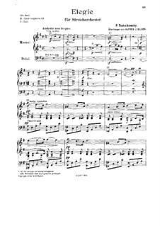 Элегия для струнного оркестра 'Привет благодарности', TH 51: Переложение для органа by Петр Чайковский