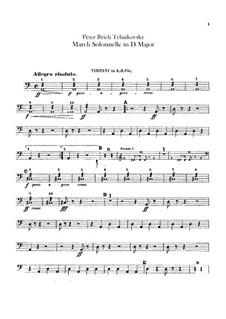 Правоведческий марш, TH 52: Партии ударных инструментов by Петр Чайковский
