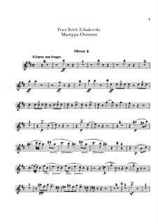 Мазепа, TH 7: Увертюра – партии гобоев и английского рожка by Петр Чайковский