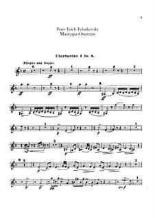 Мазепа, TH 7: Увертюра – партии кларнетов by Петр Чайковский
