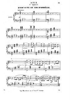 Гамлет: Акт II, для солистов, хора и фортепиано by Амбруаз Томас