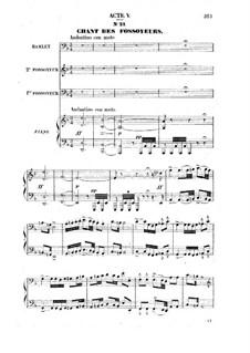 Гамлет: Акт V, для солистов, хора и фортепиано by Амбруаз Томас