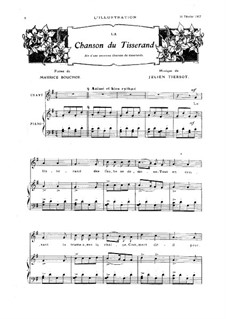 La chanson du tisserand: La chanson du tisserand by Julien Tiersot