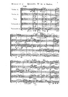 Струнный квинтет No.10 фа минор, Op.32: Партитура by Жорж Онсло