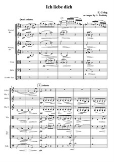 Мелодии сердца, Op.5: No.3 Люблю тебя, для оркестра by Эдвард Григ