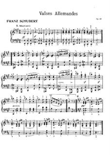 Шестнадцать немецких танцев и два экосеза, D.783 Op.33: Шестнадцать немецких танцев by Франц Шуберт
