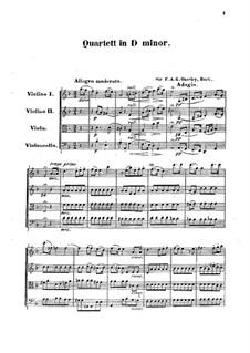 Струнный квартет ре минор: Партитура by F.A. Gore Ouseley