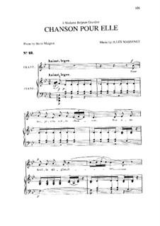 Chanson pour elle: Си-бемоль мажор by Жюль Массне