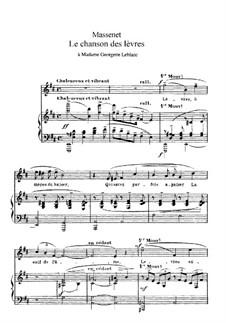 La chanson des lèvres: Ре мажор by Жюль Массне