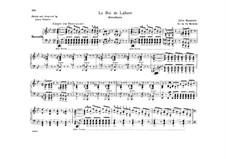 Король Лахорский: Увертюра. Переложение для фортепиано в четыре руки by Жюль Массне