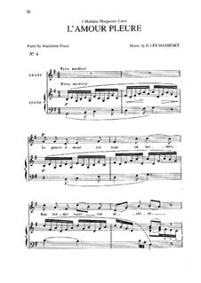 L'amour pleure: Соль мажор by Жюль Массне