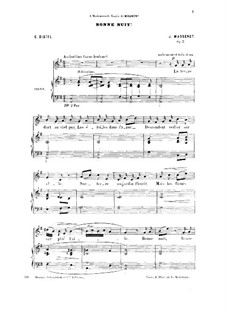 Три мелодии, два дуэта и трио, Op.2: No.1 Bonne nuit by Жюль Массне